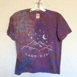 Starry Night Tie Dye Crop t shirt